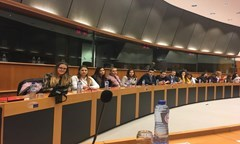 Students from the UNWE Participated in Round Table Conference in the European Parliament