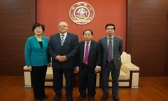 The Rector of UNWE Paid an Official Visit to Shanghai Jiao Tong University