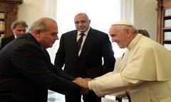 The Rector Prof. Stattev at an Audience with Pope Francis