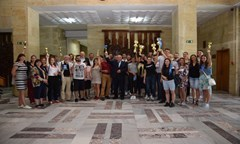 Students-Sportsmen Presented to the UNWE Managing Body the Medals from the National Universiade – Sofia 2018