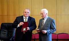 Prof. D.Sc. (Econ.) Velcho Stoyanov Was Awarded The Honorary Sign by Three Universities