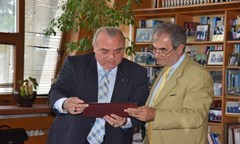 Prof. D.Sc.(Econ.) Statty Stattev Met with The Director of Jean Monnet EU Programme